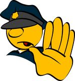 Policeman stop. Policeman hand stop vector illustration stock illustration