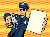 Policeman stops a crime Stock Photography