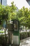 Policeman at street in Tehran, Iran stock photography