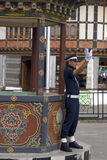 Policeman, Thimphu, Bhutan Royalty Free Stock Photography