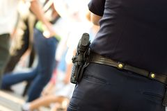 Policeman in uniform Stock Images