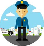 Policeman in uniform Royalty Free Stock Images