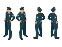 Policeman in uniform. Policeman icon. Policeman vector. Royalty Free Stock Photo