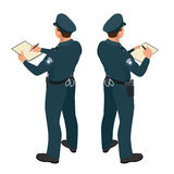 Policeman in uniform. Policeman icon. Policeman vector. Stock Image