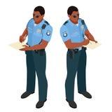 Policeman in uniform. Policeman icon. Policeman vector. Stock Photography
