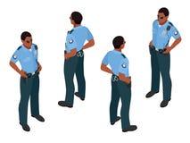 Policeman in uniform. Policeman icon. Policeman vector. Stock Photo
