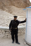 Policeman in Valley of the Kings Royalty Free Stock Photo