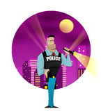 Policeman vector illustration Royalty Free Stock Photo