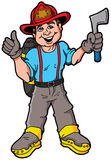 Illustration of a smiling Fireman Royalty Free Stock Photo
