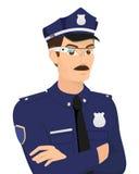 Policeman wearing smartglasses. Stock Photography