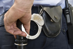 Policeman working. Royalty Free Stock Photos