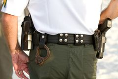 Policemans Equipment Belt Royalty Free Stock Photos