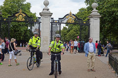 Policemen on bicycles in London Royalty Free Stock Image