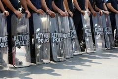 Policemen demonstration Stock Image