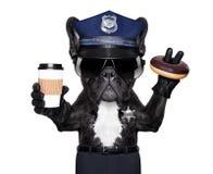 Policemen dog break Royalty Free Stock Photos