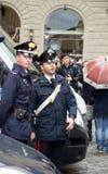 Policemen in Florence Royalty Free Stock Photos