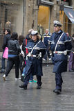 Policemen in Florence. Italian policemen in Florence, Italy Royalty Free Stock Photo