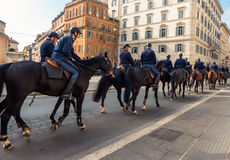 Policemen on horses Royalty Free Stock Photos