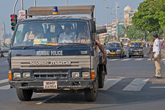 Policemen in Mumbai stock photography
