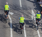 Policemen riding bicycles in Zurich, Switzerland Royalty Free Stock Photos