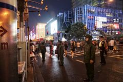 Policemen in Shanghai, China Royalty Free Stock Image