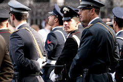 Policemen in uniform. During the Italian Armed Forces Day, November 4 Stock Photography