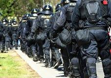 Policemen walking