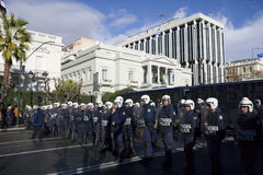 Policemens in Athene 18_12_08 royalty-vrije stock fotografie