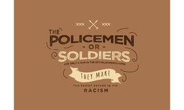 The policement or soldiers Royalty Free Stock Photography