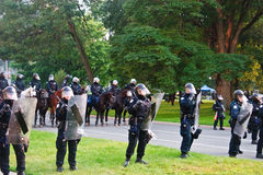 Polices at Action for G8/G20 protests Stock Images