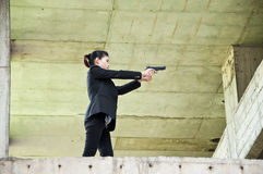 Policewoman in action. Royalty Free Stock Image