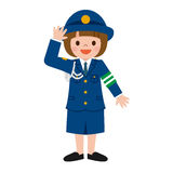 Policewoman of children Royalty Free Stock Images