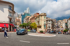Policewoman controls traffic in Monaco. Stock Images