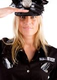 Policewoman is on duty Royalty Free Stock Photos
