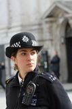 Policewoman on duty Royalty Free Stock Photos