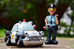 Policewoman, Police, Police Car Royalty Free Stock Photo