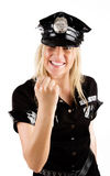 Policewoman showing a Stock Photo