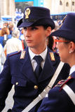 Policewoman in uniform Royalty Free Stock Images