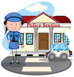 Policewoman working at police station Royalty Free Stock Photography