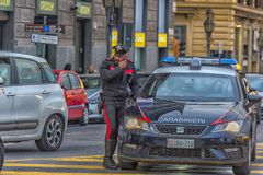 Polici, carabinieri pozycja/ Obraz Stock