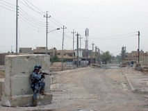 Polici Narodowa Firefight Bagdad Irak 07 Obraz Stock