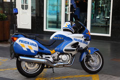 Policia Local Motorcycle, Tenerife Royalty Free Stock Image