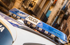 Policia / Police Car Lights Royalty Free Stock Photography