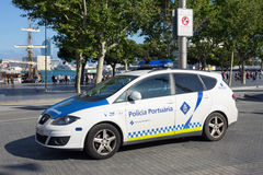 Policia Portuaria Barcelone Images libres de droits