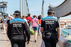 Policia Portuaria/den spanska portpolisen Fotografering för Bildbyråer