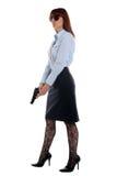 Policie a mulher no dever Fotografia de Stock Royalty Free