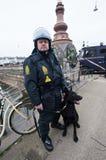 Policier à Copenhague Photo stock