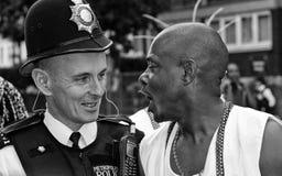Policier au carnaval de Notting Hill Images libres de droits