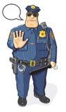 Policier avec le bâton Images libres de droits