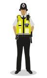 Policier britannique - salut force Photo stock